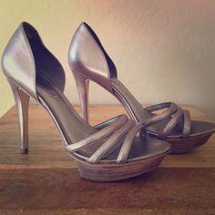 Bcbg Max Azria Silver Heels