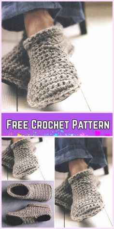 Good Free Crochet slippers boots Popular DIY Crochet Adult Slippers Pattern Round Up- Cozy Crocheted Slipper Boots Free Pattern Easy Crochet Slippers, Crochet Slipper Boots, Crochet Mug Cozy, Diy Crochet, Men's Slippers, Crochet Slipper Pattern, Crochet Patterns, Shoe Pattern, Crochet Woman