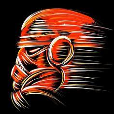Stormtrooper mess around. #starwars #digitalart #ipadpro #ipadproart #stormtrooper #helmet #brushpen #brushstrokes #illustration