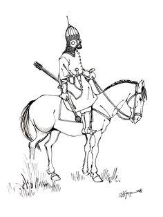 East Georgian aznaur of the century Types Of Armor, Military Costumes, Medieval Armor, Eastern Europe, 17th Century, Warfare, Archaeology, Warriors, Persian