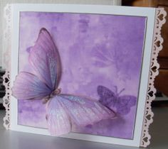 A pretty parchment butterfly