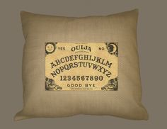 I just listed Vintage Ouija Board Image on on BURLAP pillow slip 16x16, Handmade on The CraftStar @TheCraftStar #uniquegifts