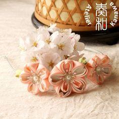 Hand Dyed Sakura (Cherry Blossom) Headband via Etsy (AtelierKanawa)