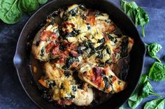 Spinach ricotta and Sun-Dried Tomato Stuffed CHicken