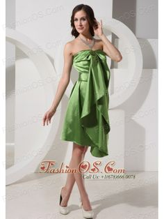 Olive Green Knee-length Prom Dress For Custom Made In Fraserburgh Grampian- $132.45  http://www.fashionos.com  Neckline: Strapless  Waist: Fitted  Hemline/Train: Knee-length  Sleeve Length: Sleeveless  Embellishment: None  Back Detail: Same As Picture  Fully Lined: Yes  Built-In Bra: Yes  Fabric: Satin  Shown Color: Olive Green(Color & Style representation may vary by monitor.)  Occasion: Prom, Formal Evening, Homecoming, Cocktail, Graduation  Season: Spring, Summer, Fall