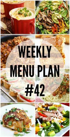 A delicious collection of dinner recipes (along with bonus recipes) to help you plan your Weekly Menu Plan!