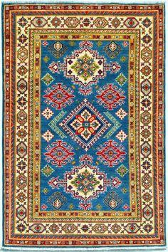 5 X Real Hand-knotted Fine Kazak Woolen Area Small Rug, Rug size 88 x 119 cm Rug Size, Kazak Rug, Small Rugs, Imported Rugs, Small Area Rugs, Rugs, Rugs And Carpet, Geometric Carpet, Hand Knotted Rugs