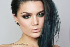 """Todays look. Product list on my blog lindahallberg.com #fotd #makeup #mua"""