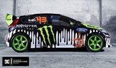 Ford Fiesta Ken Block Gymkhana - Monster #kenblock #gymkhana #ford #fiesta #monster