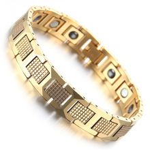 Mens Tungsten Bracelet, Shiny Gold Magnetic Health Care Jewelry KB1539     Tag a friend who would love this!     FREE Shipping Worldwide     Get it here ---> http://oneclickmarket.co.uk/products/mens-tungsten-bracelet-shiny-gold-magnetic-health-care-jewelry-kb1539/
