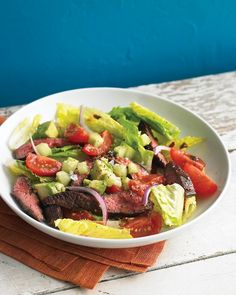 Southwestern Steak Salad - classic southwest flavors come together in this crunchy, creamy salad