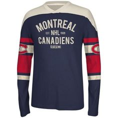 Reebok Montreal Canadiens CCM Applique Pullover Sweatshirt - Navy Blue