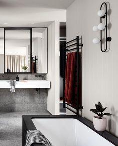 Luxury Hotel Design, Bathroom Renos, Bathrooms, Color Pop, Colour, Hospitality Design, Start The Day, Terrazzo, Design Inspiration