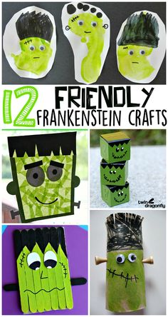 Cute Frankenstein Halloween Crafts for Kids to Make - Crafty Morning  #halloween #preschoolcraft