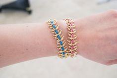 wreath & suede bracelet - pink