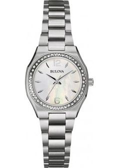 Bulova-Diamond-Gallery-Womens-Quartz-Watch-with-Mother-of-Pearl-Dial-Analogue-Display-and-Brown-Stainless-Steel-Bracelet-96W199-0