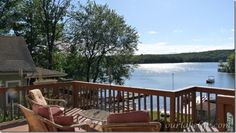 Lake House - with a view off the deck!