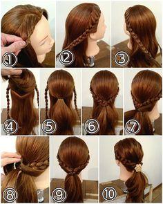 Braided Hairstyles Tutorials, Diy Hairstyles, Indian Bridal Hairstyles, Wedding Hairstyles, Wavy Hair, New Hair, Hair Upstyles, Hair Arrange, Dream Hair