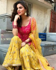 Beautiful Indian lehanga and choli Sharara Designs, Lehenga Designs, Choli Designs, Indian Bridal Lehenga, Indian Bridal Wear, Indian Wear, Wedding Outfits For Women, Bridal Outfits, Dress Indian Style