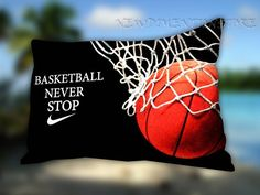 Nike Basketball Never Stop Pillow Case Cover by NEWDIMENTIONSTORE, $14.99.on etsy.com