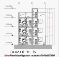 Planos de vivienda multifamiliar pinteres for Planos de casas 8x15