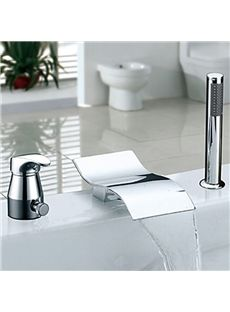 Contemporary Centerset Waterfall With Ceramic Valve Single Handle - Contemporary waterfall faucets riflessi from gessi