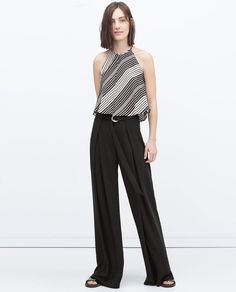 Image 1 of BUCKLED PLEATED TROUSERS from Zara