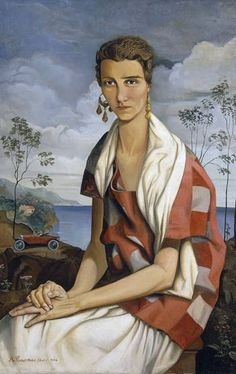 ♀ Painted Art Portraits ♀  Alfred Courmes | Portrait of Peggy Guggenheim