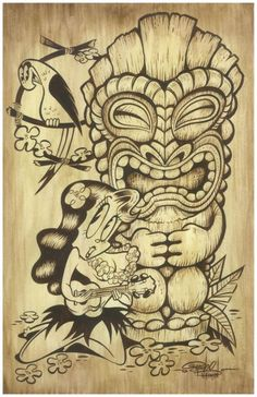 tiki girl I want this as a tattoo!