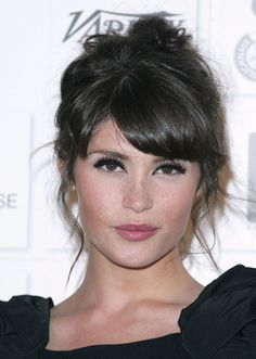 gemma arterton hair bangs eye makeup