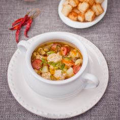 Smoky Hunter's Soup - would be AMAZING with my brother-in-law's sausage.