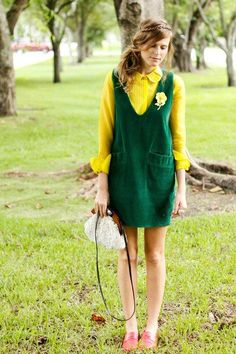green overall dress #ashleniqapproved YES YES YES