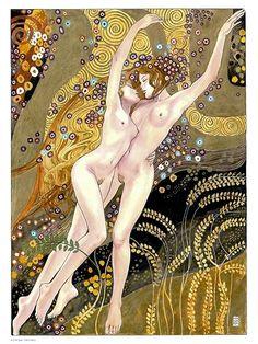 Milo Manara Klimt water snakes