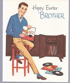E12 Vintage 60's Unused Paramont Easter Greeting by jarysstuff
