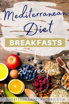 Mediterranean Breakfast, Easy Mediterranean Diet Recipes, Mediterranean Dishes, What Is Mediterranean Diet, Dash Diet Recipes, Diet Dinner Recipes, Dash Diet Food List, Clean Diet Recipes, Beyond Diet Recipes