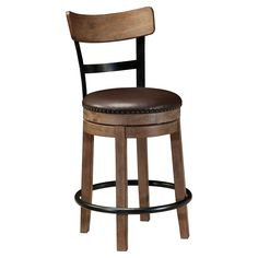 Have to have it. Signature Design by Ashley Pinnadel Wood Counter Height Stools - $199.99 @hayneedle