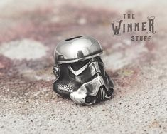 Stormtrooper - Paracord Knife Lanyard Bead in Solid Pewter by TheWinnerStuff on Etsy