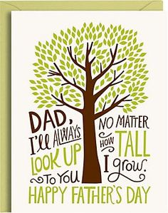 Dad Tree Letterpress Father's Day Card