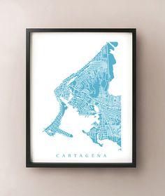 Modern Cartagena map