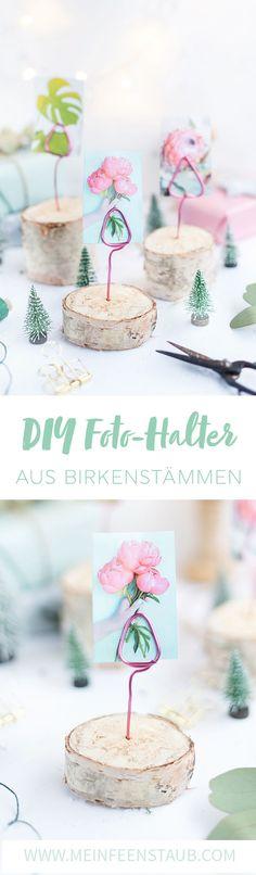 Creative DIY Idea As A Homemade Christmas Gift Photo Holder Made Of Birch