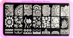 Nail Art Stamping Mania: Born Pretty BP Rectangular Plates Review