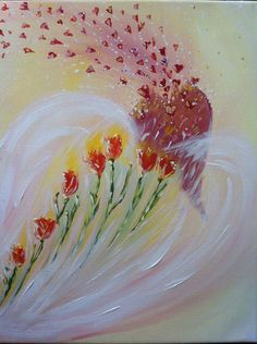 """Prophetic Painting """"Abiding in His Love"""" by Andrea Riley, hearts and flowers prophetic art. Pictures To Draw, Art Pictures, My Love Story, Prophetic Art, Biblical Art, Lion Of Judah, Chuppah, Praise And Worship, Paint Party"""