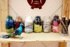 Natural Materials Shelf     Reggio Emilia Inspired Preschool Art Studio Atelier