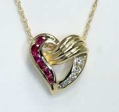 ".07ct F SI Diamond Pave Set Heart Pendant 14kt Rose Gold 18/"""