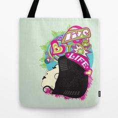 Live Life Tote Bag by Hagu - $22.00