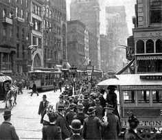 Lower Broadway, New York City 1899