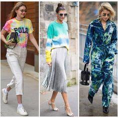 ¡Tie dye o batik! La tendencia noventosa que nos invade nos trae este particular estampado. Les dejo algunas opciones para implementarlo.… Pants, Outfits, Fashion, Trends, Trouser Pants, Moda, Suits, Fashion Styles, Women's Pants