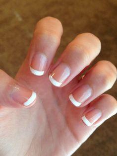 French tip nails, using Sally Hansen white nail art pen