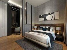 Modern room partitions have many uses. Luxury Bedroom Design, Master Bedroom Interior, Bedroom Decor, Bedroom Designs, Contemporary Interior Design, Contemporary Bedroom, Modern Room, Luxury Homes Interior, Home Interior Design