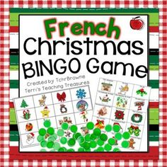 French Christmas Bingo - Bingo de Noel by TchrBrowne Christmas Bingo Game, Game Bingo, French Christmas, French Resources, Teacher Notebook, Calling Cards, Teaching French, Teacher Newsletter, Gingerbread Man